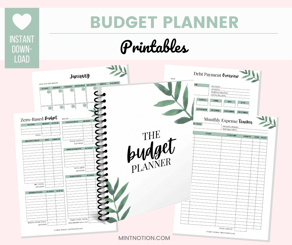 budget planner printables - shopping addiction