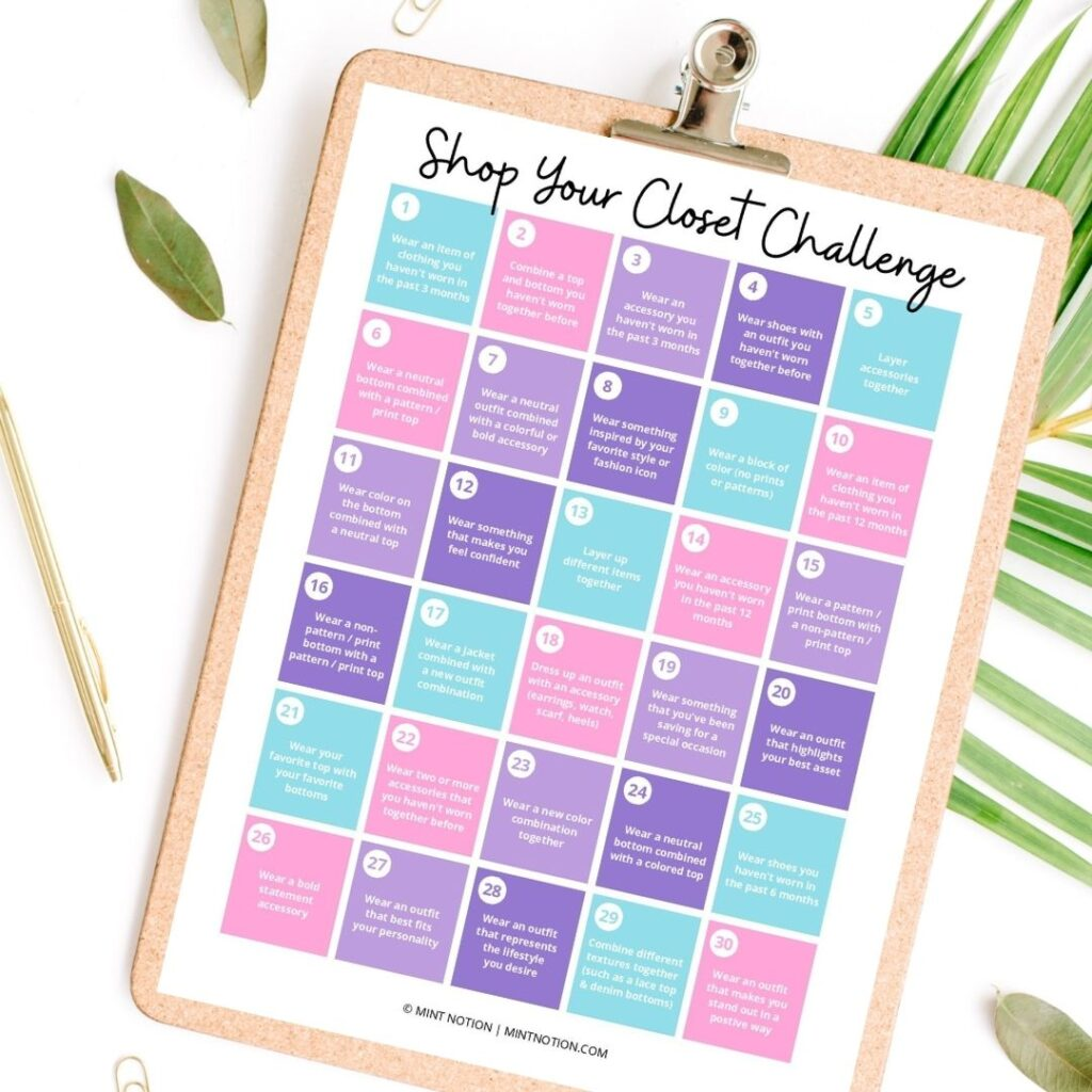 no new clothing for a year - shop your closet challenge