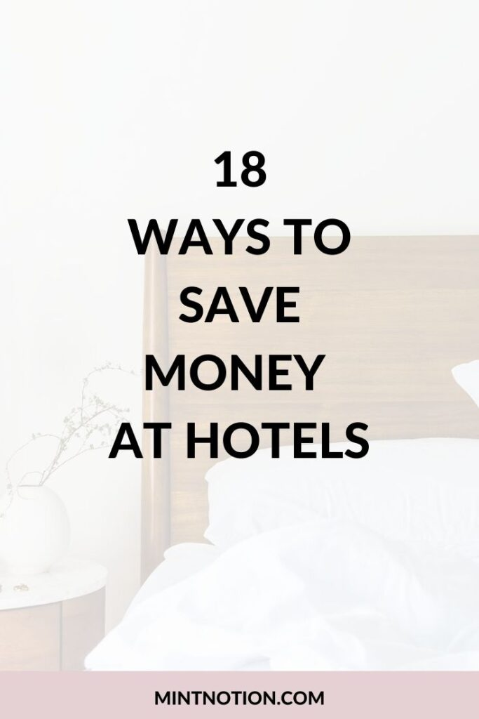 how to save money at hotels