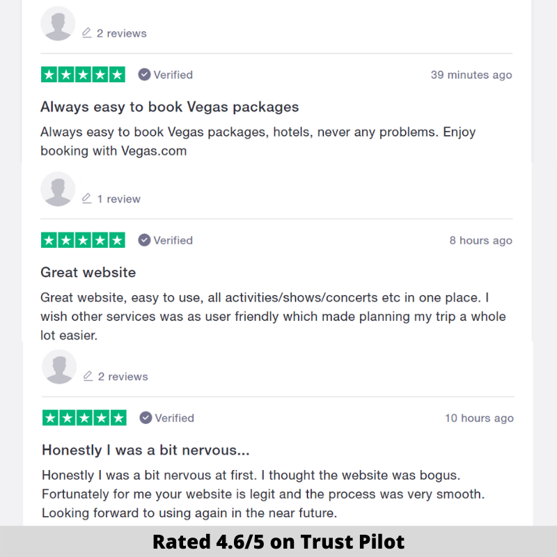 vegas.com reviews
