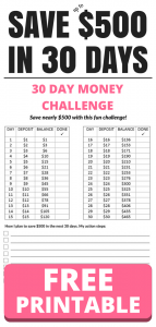 Save $500 in 30 days with this fun money challenge
