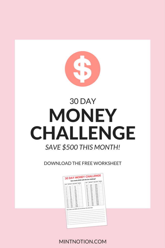 Money Challenge: How To Save $500 In 30 Days