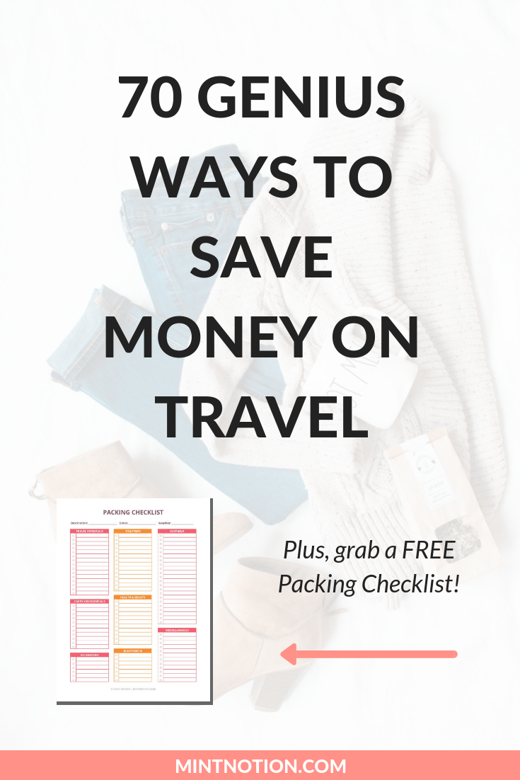 70 genius ways to save money on travel