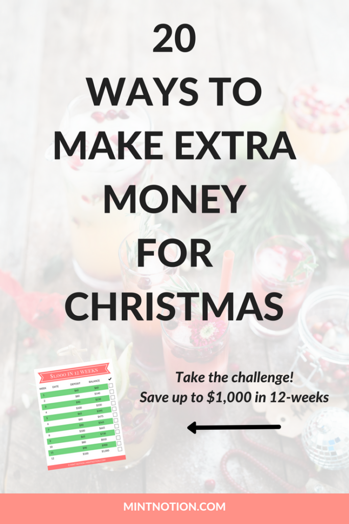 20 ways to make extra money for Christmas