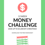 12 week money saving challenge