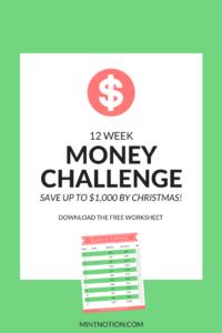 12 week money saving challenge