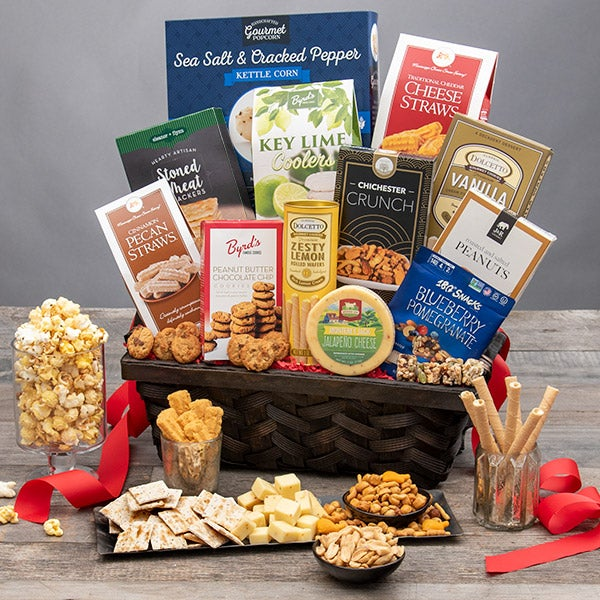 clutter free gifts - food basket