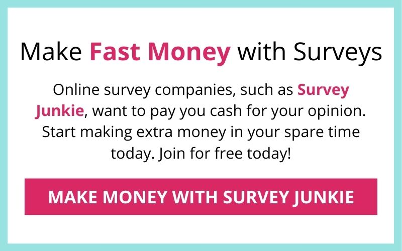 make fast money with survey junkie