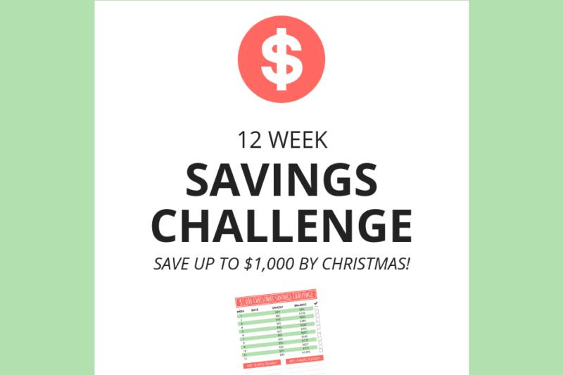 $1,000 Christmas Savings Challenge