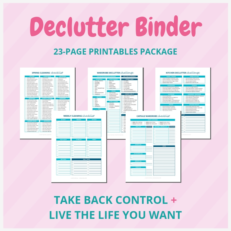 image regarding Life Binder Printables known as Declutter Binder Printables - Order Well prepared + Get pleasure from Your Household