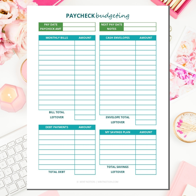 image relating to Free Printable Budget Binder Worksheets identify 2019 Spending budget Binder Printables - Mint Strategy