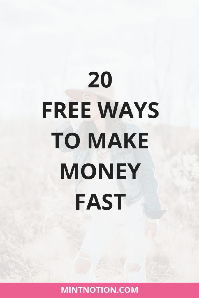 20 free ways to make extra money fast