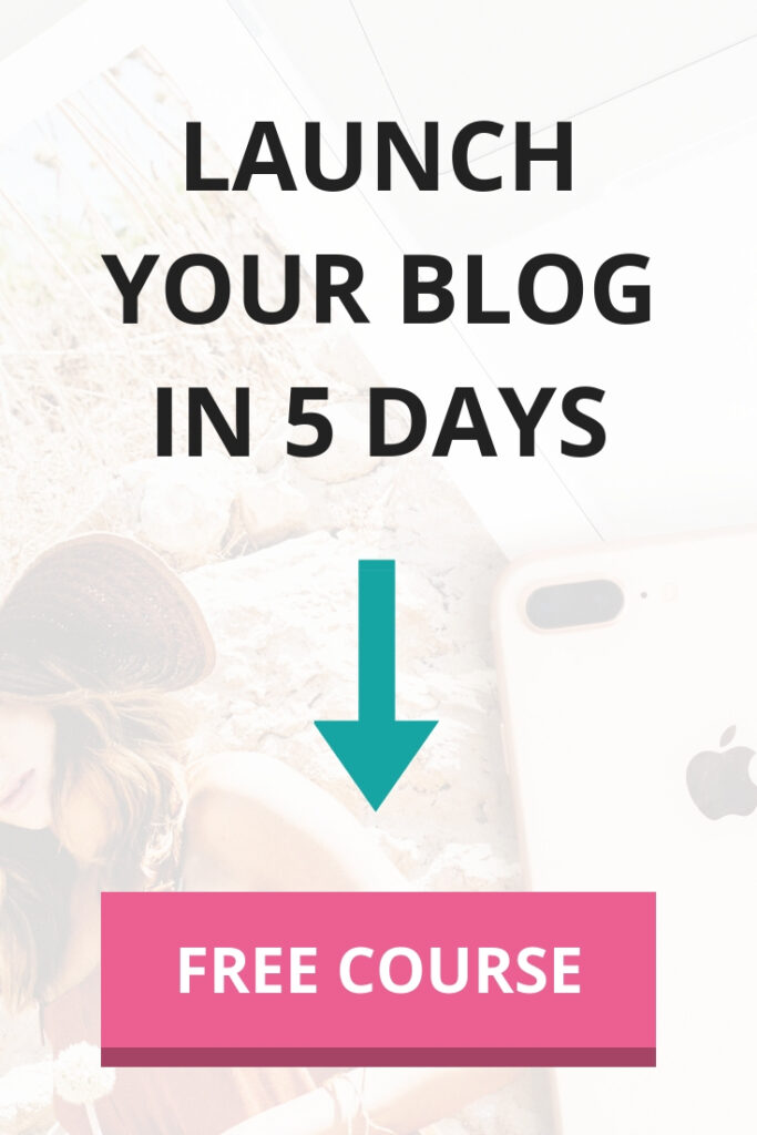 Launch your blog in 5 days - FREE course