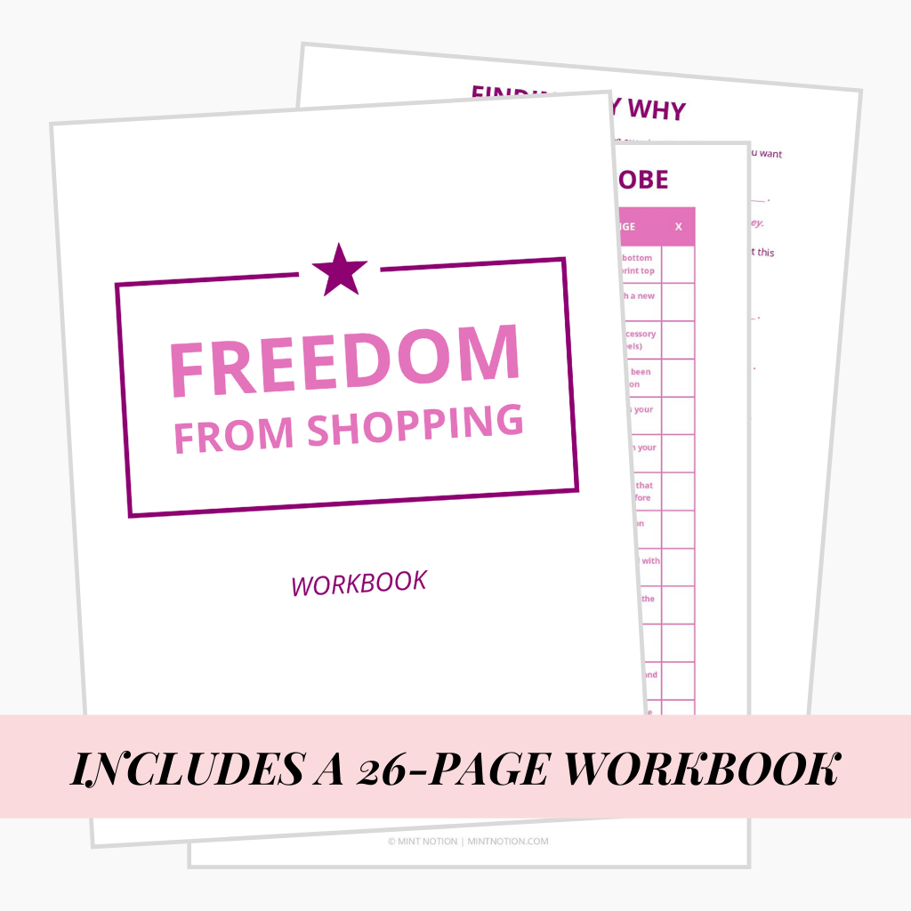 freedom from shopping worbook