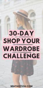 shop your closet challenge