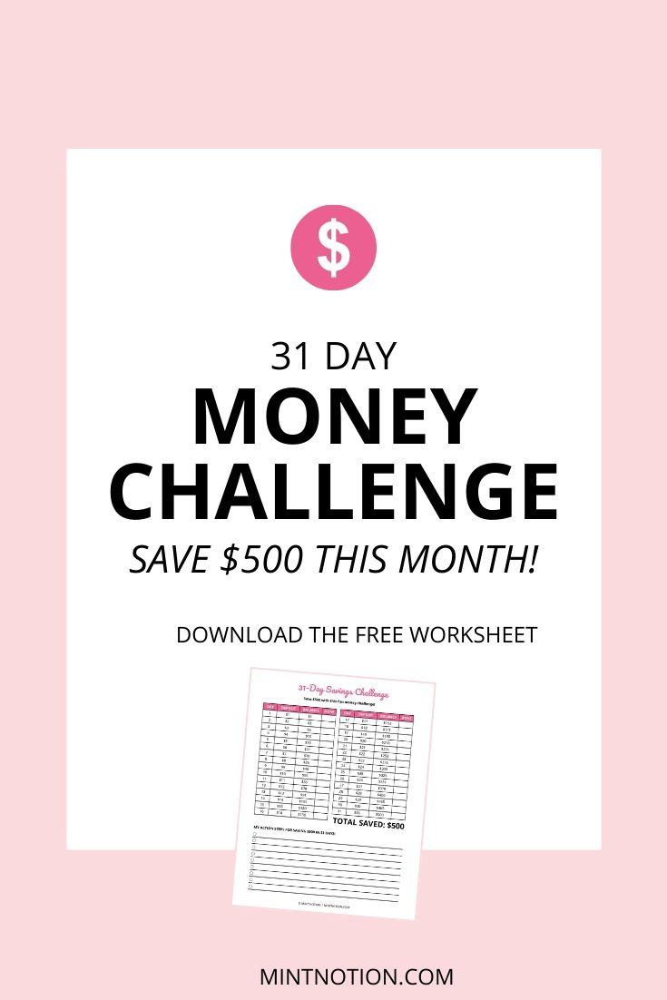savings challenge - how to save $500 in one month