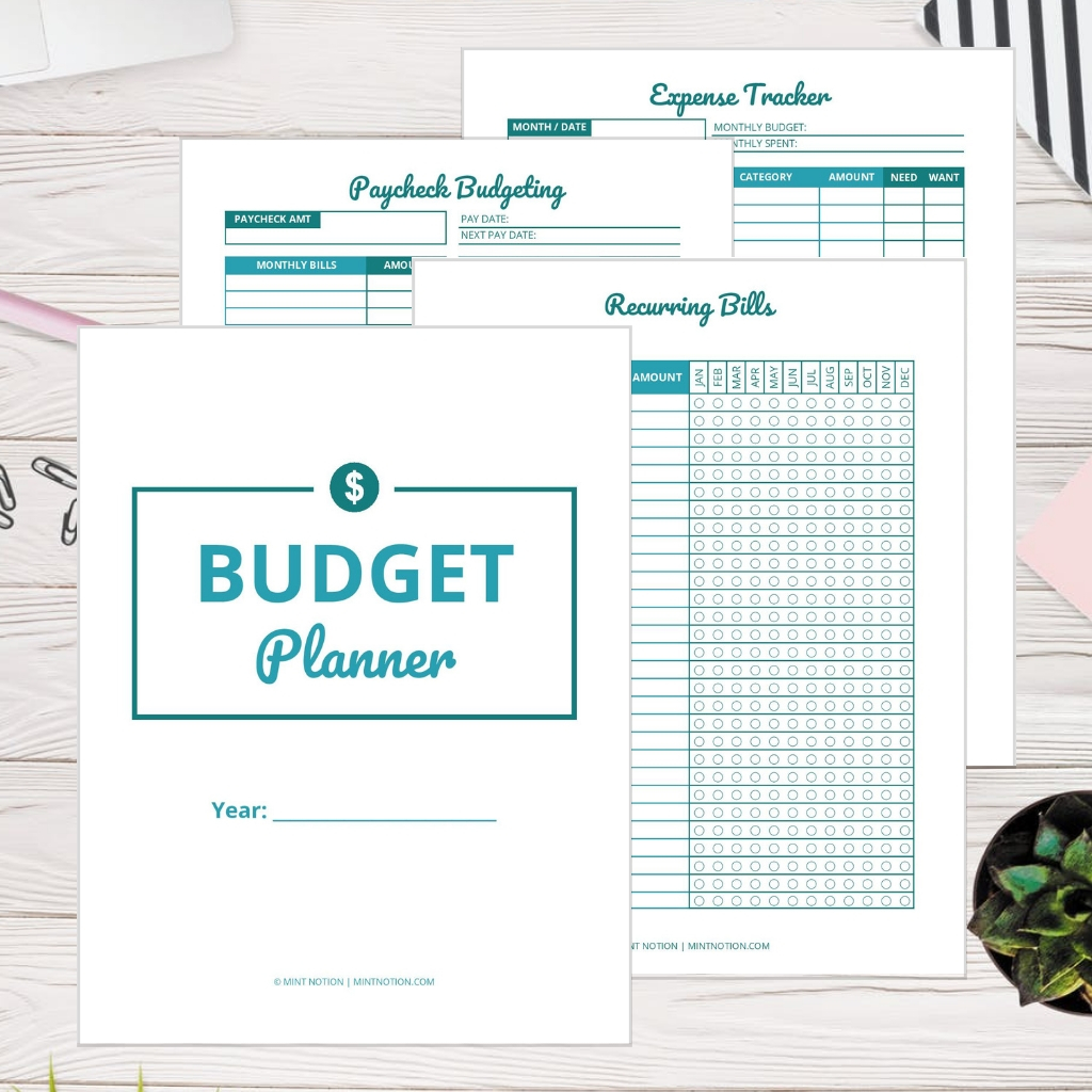 Printable Budget Planner Template