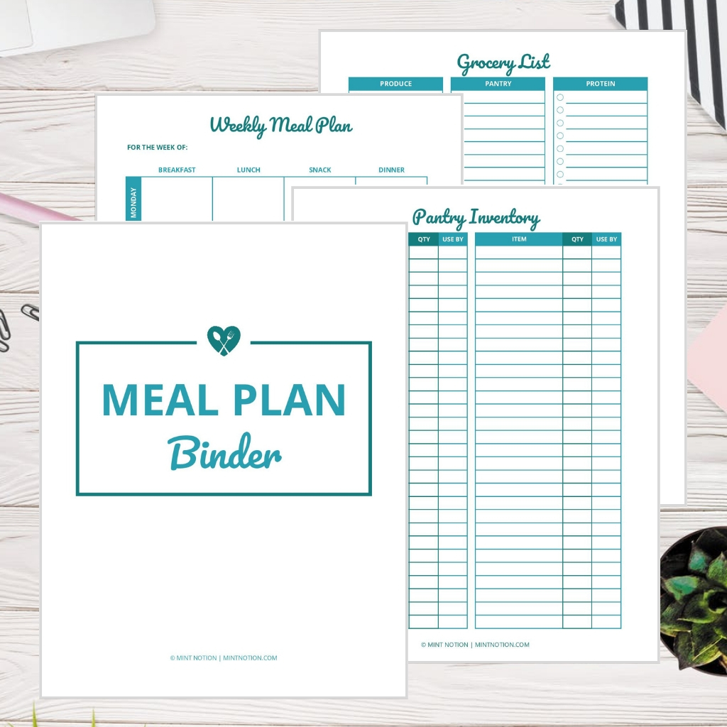 Printable Meal Plan Template