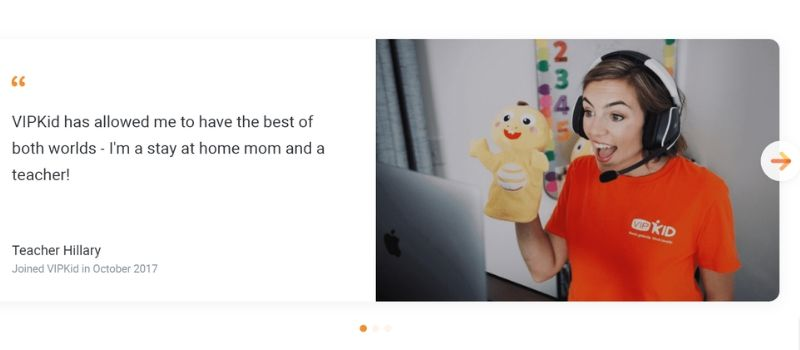 earn money teaching english online with VIPKID