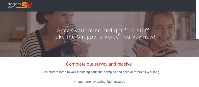 get free coupons and samples with shopper's voice