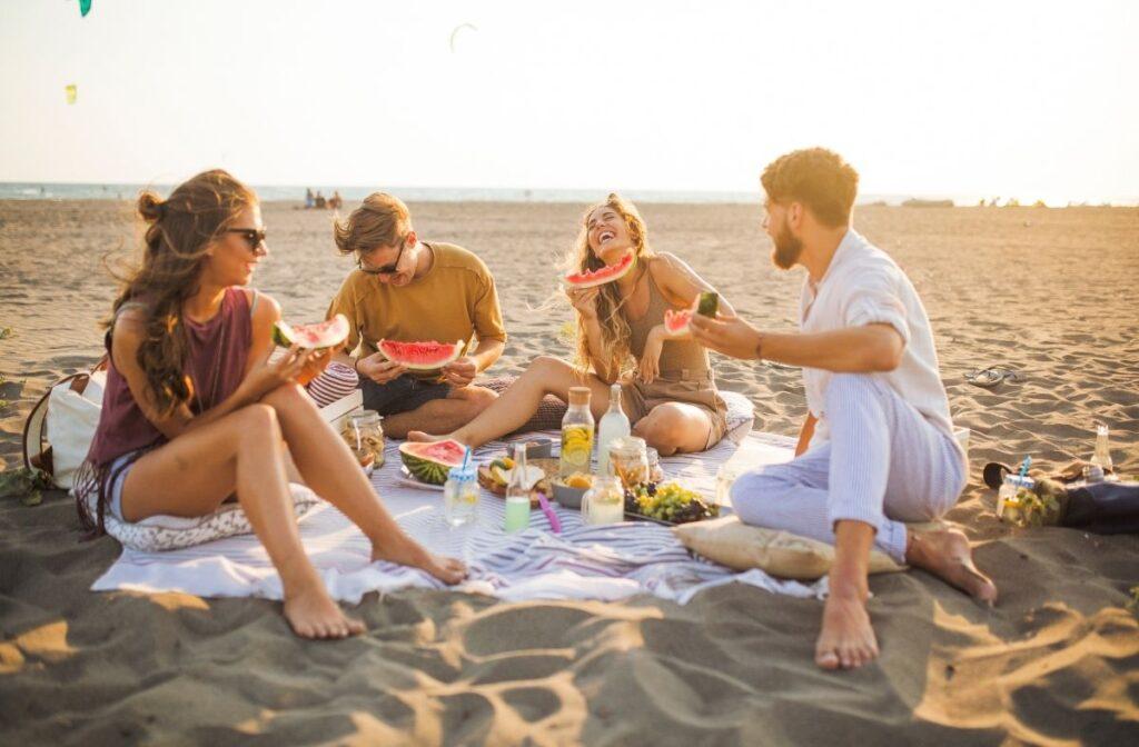 staycation ideas - beach day