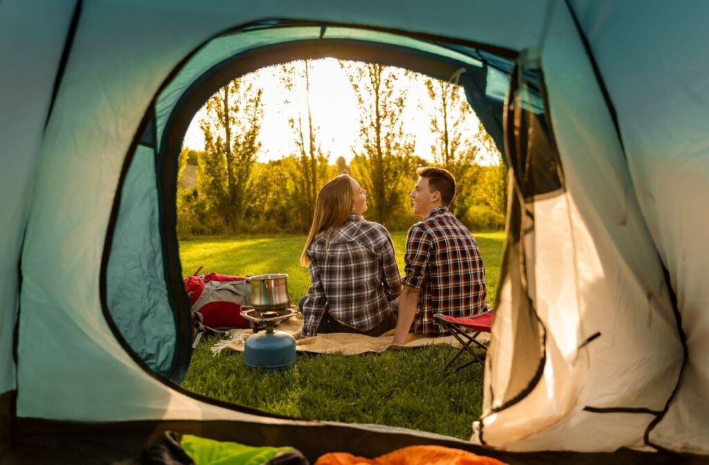 staycation ideas - camping
