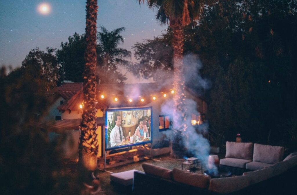 at home date night ideas - movie night