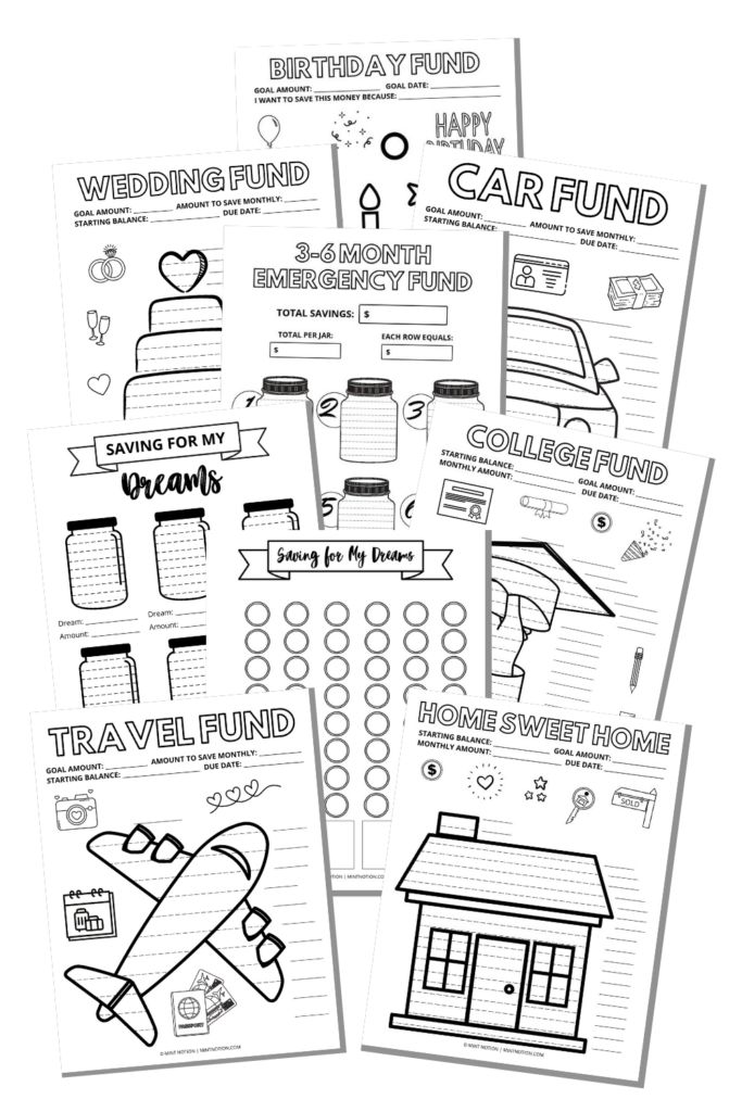 savings tracker printable