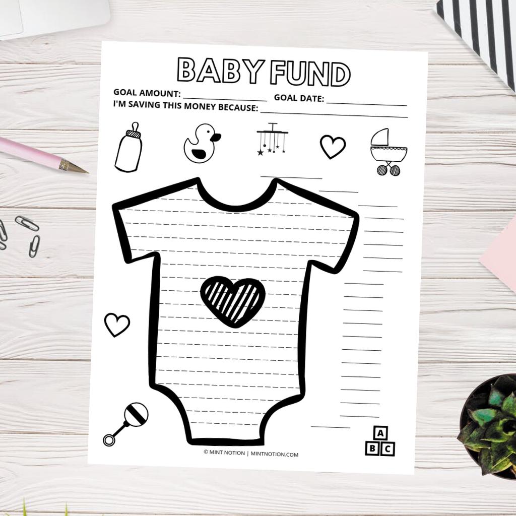 saving for a baby printable