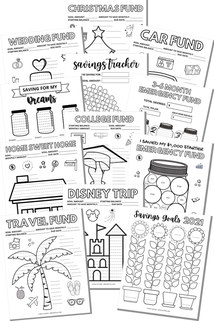 savings coloring pages printables