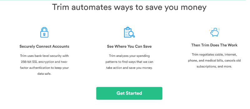 cut your monthly expenses with Trim