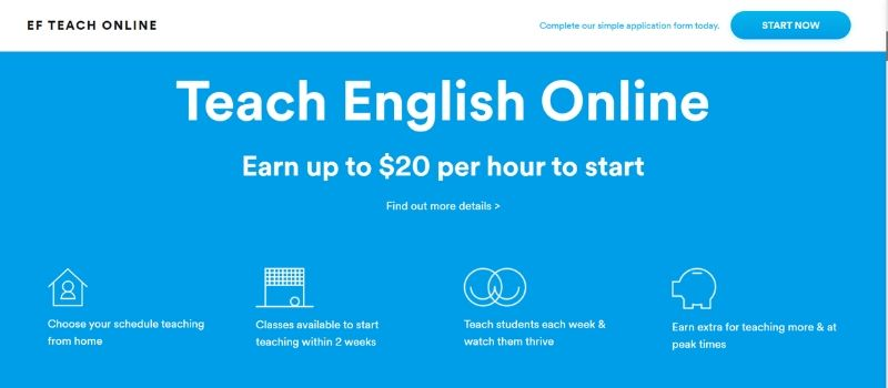 teach english online with EF Education First