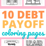 Debt payoff coloring pages