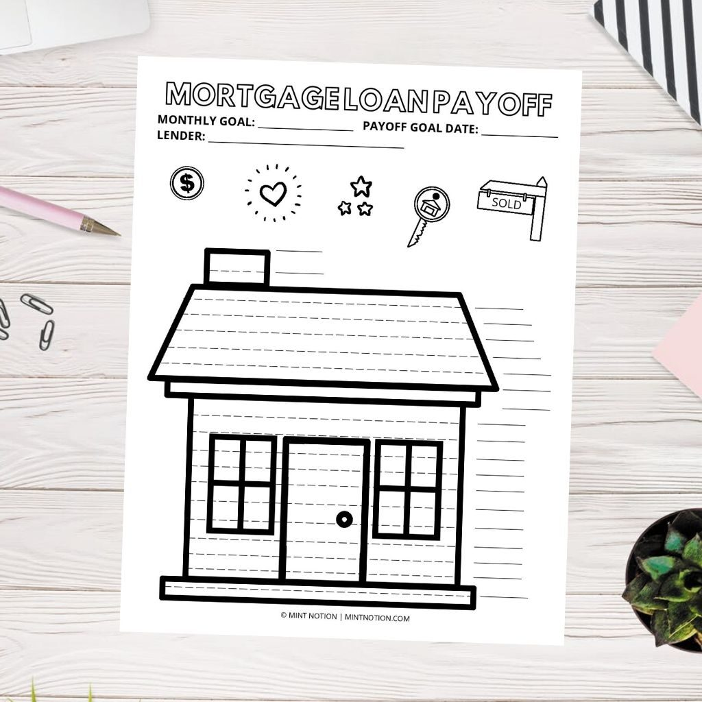 mortgage loan payoff coloring page