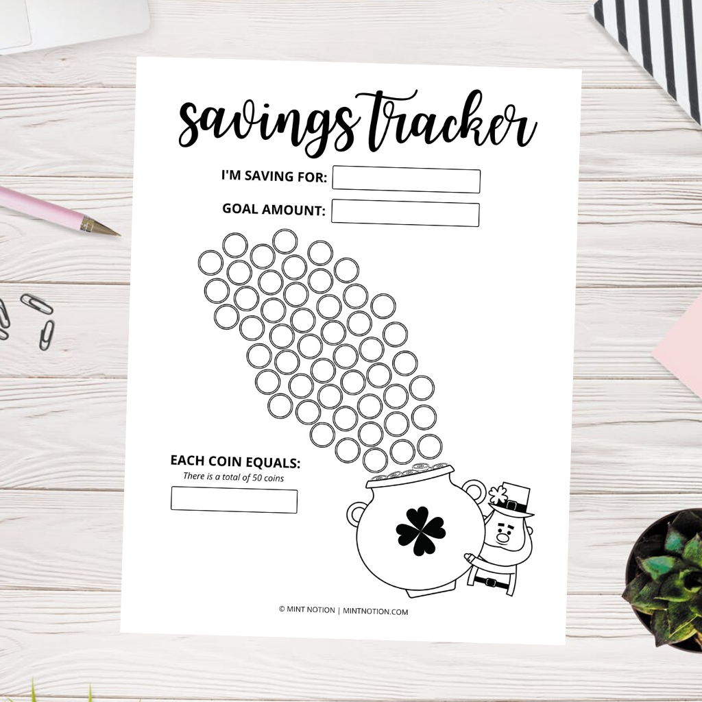 pot of gold savings tracker
