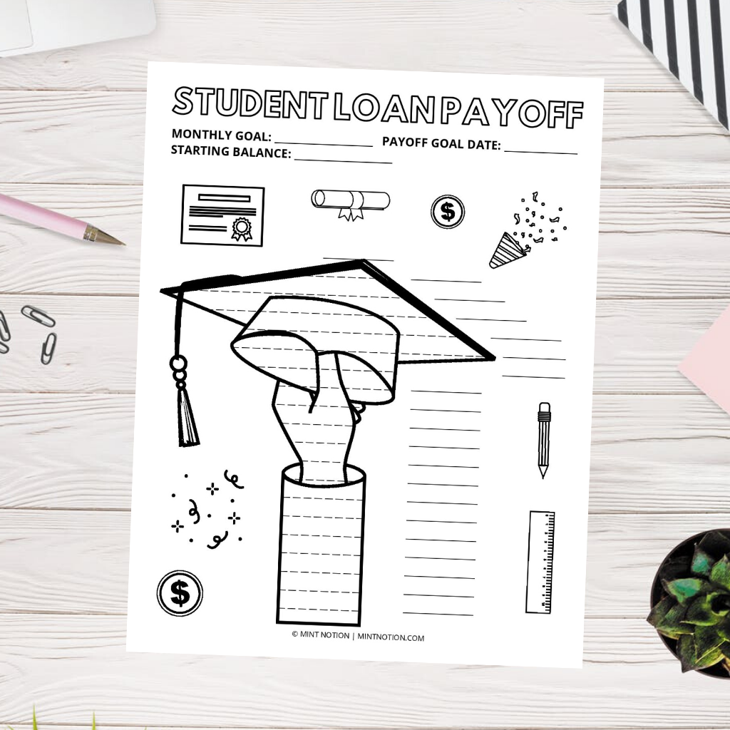 student loan payoff tracker printable