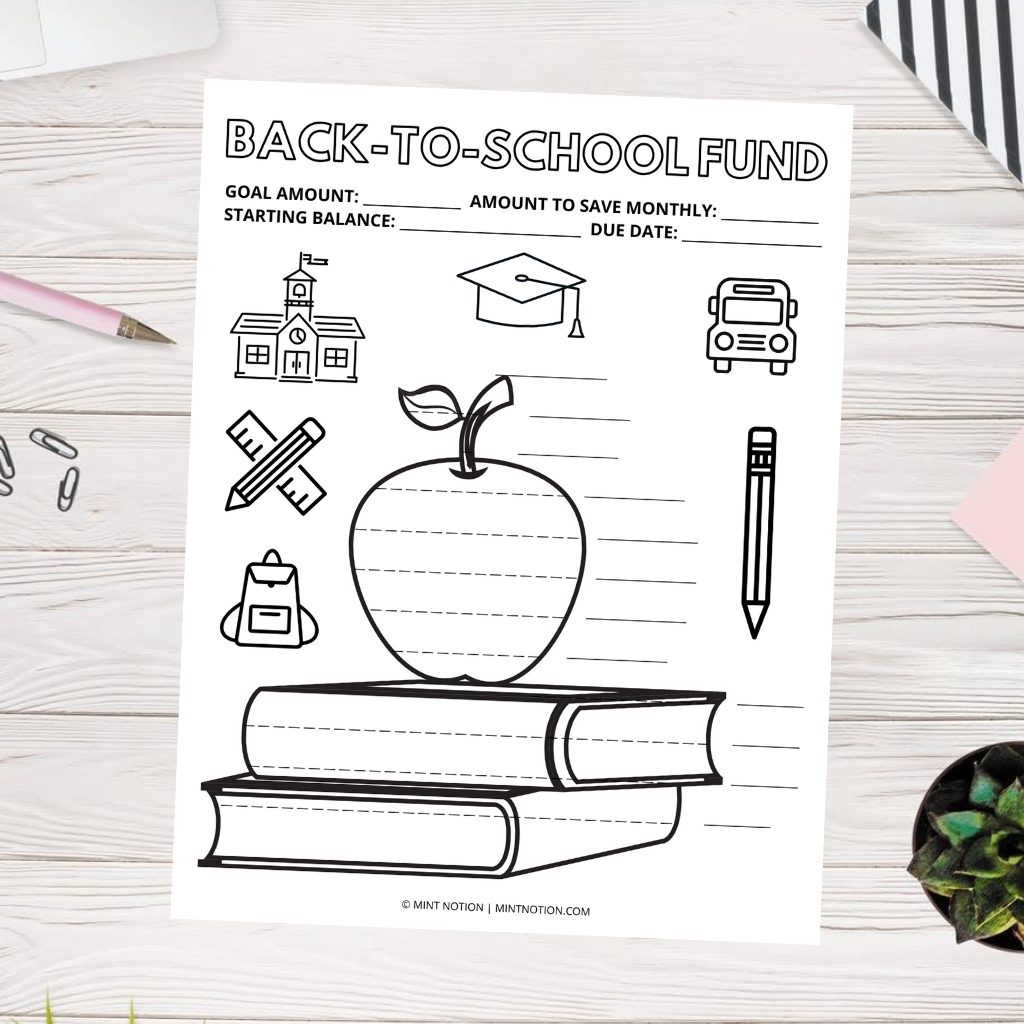 back-to-school fund tracker printable