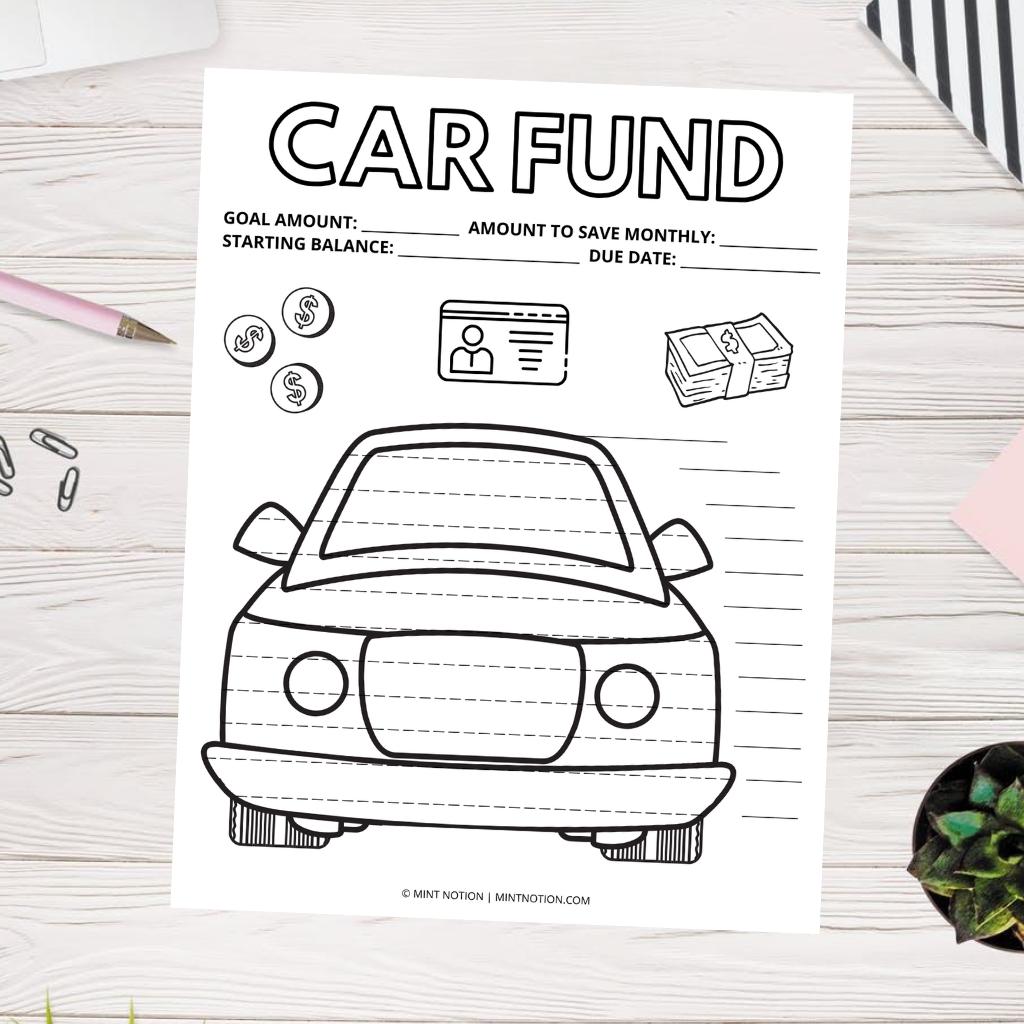 car sinking fund savings tracker