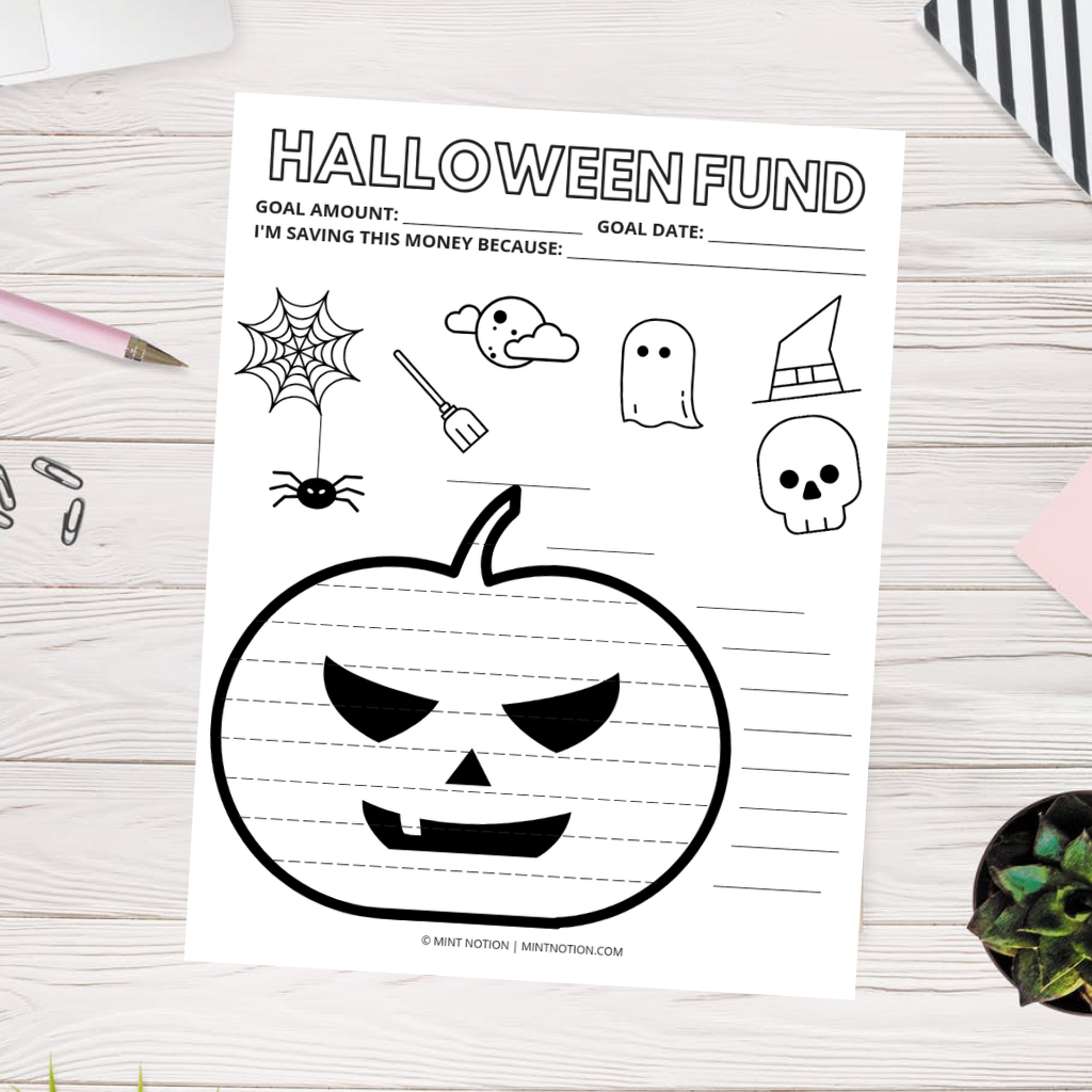 Halloween sinking funds tracker