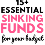 Sinking funds tracker and top sinking funds categories