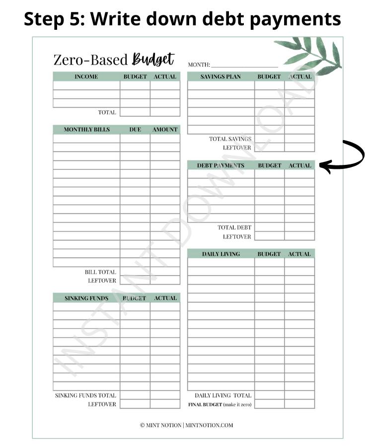 zero-based budget template