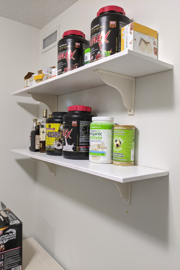 wall shelves walk-in pantry