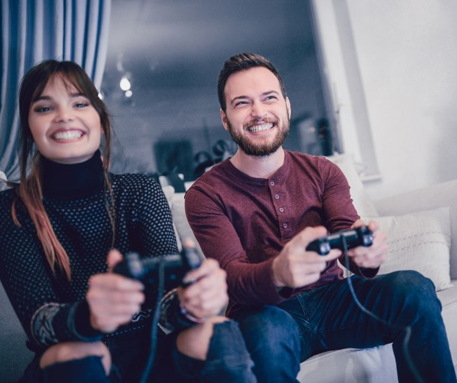 at-home date night ideas - video games