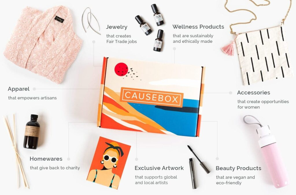 subscription box gift ideas - causebox