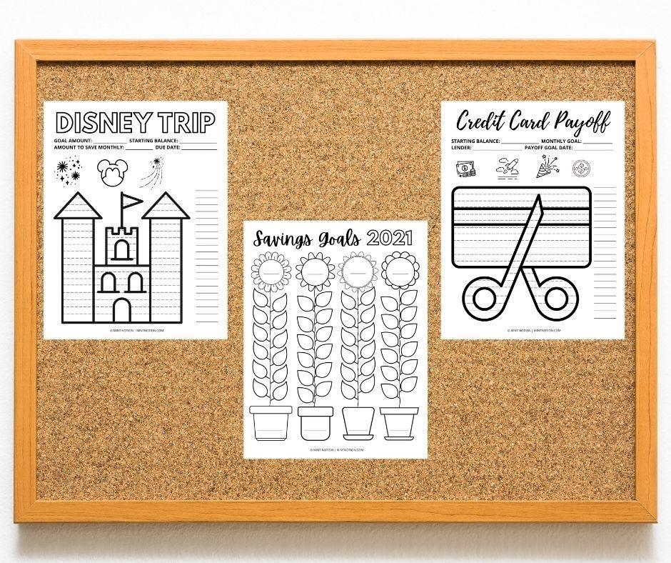 savings tracker sheets