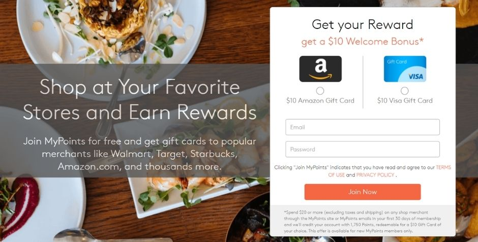 free starbucks gift cards - mypoints