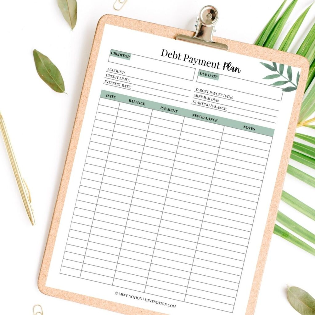 what is the best way to pay off debt - debt payoff worksheet